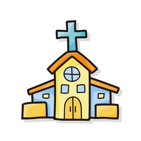 Kerk doodle Stockfoto - 44569250