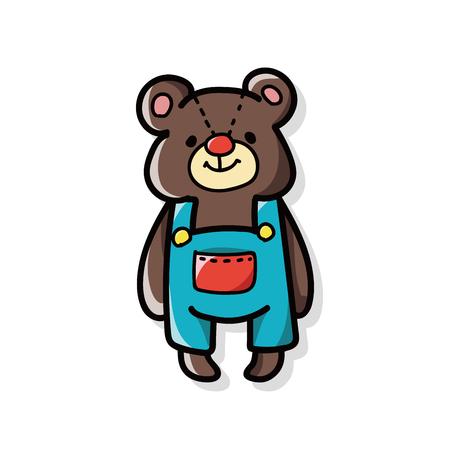 baby bear doodle Stock Illustratie