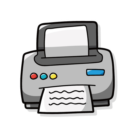 printer doodle Stock Vector - 44569863