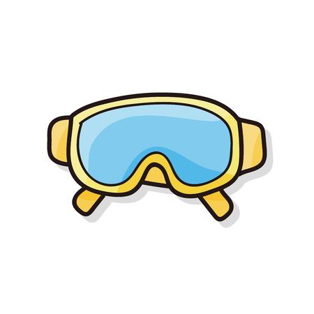 goggle: Goggle doodle Illustration