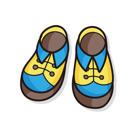 baby shoes: baby shoes doodle