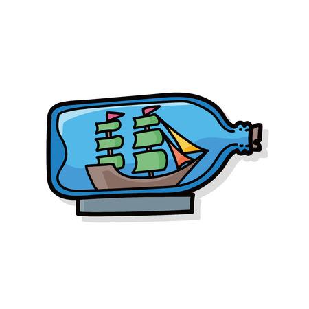 castaway: Boat in a Bottle doodle