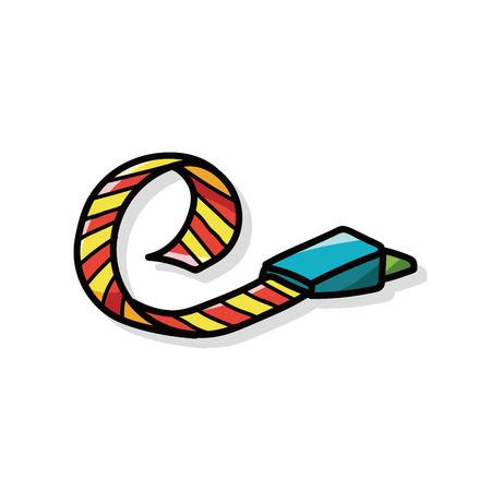 cracker: birthday cracker doodle Illustration