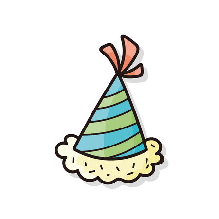 party hat: birthday hat doodle