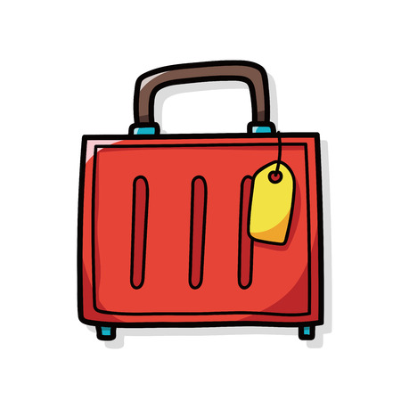 trolley case: Luggage doodle