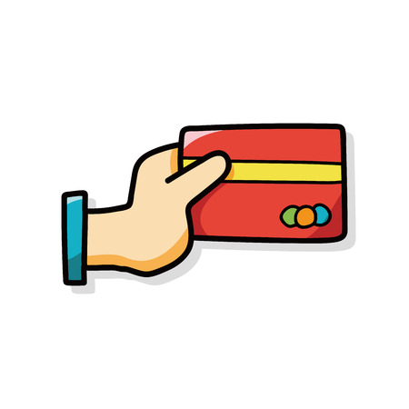 personal banking: credit card doodle Vettoriali