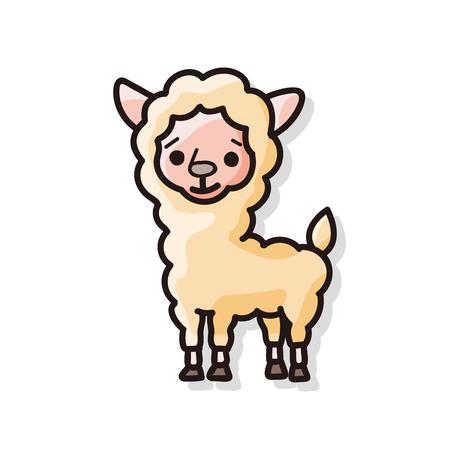 cartoon sheep: animal sheep doodle Illustration