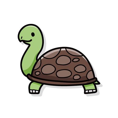 schildkr�te: Tierschildkr�te doodle