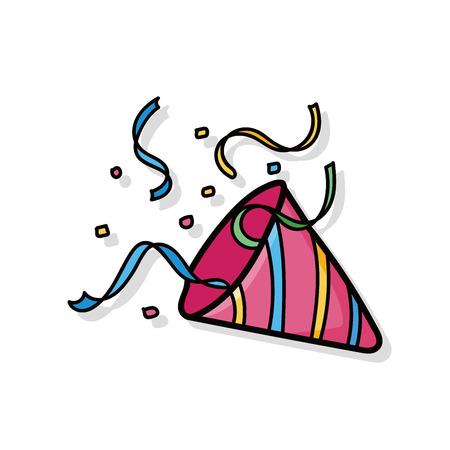 birthday cracker doodle Illustration