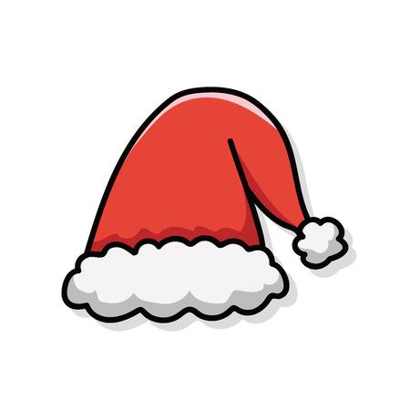 クリスマス帽子落書き
