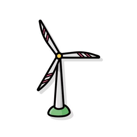 wind energy: wind energy doodle Illustration