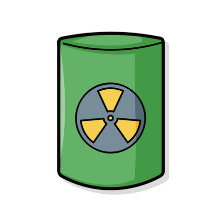 hazardous waste: nuclear power doodle Vettoriali