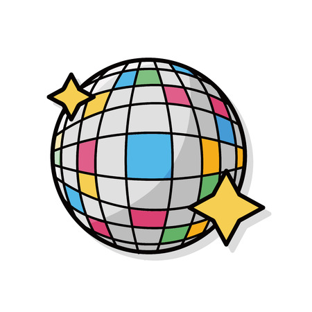 disco dance: party ball doodle