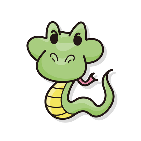 snake: animal snake doodle