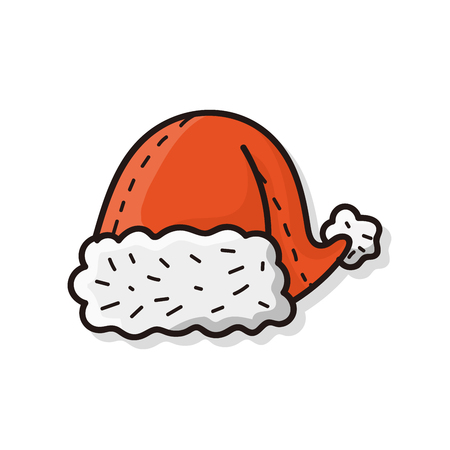 new year's cap: christmas hat doodle