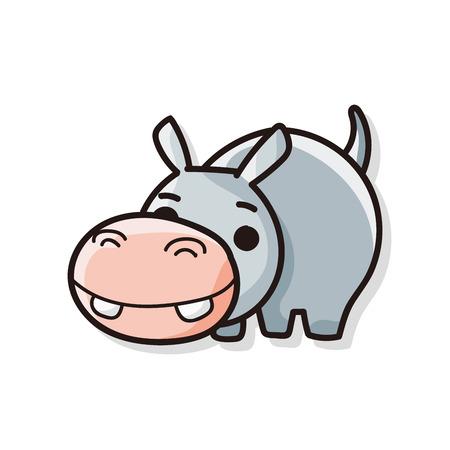 animal: animal hippo doodle