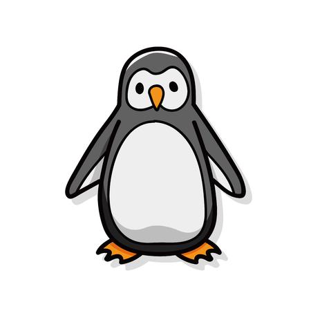 animal penguin doodle