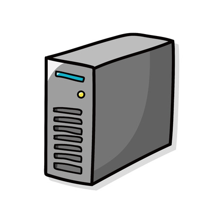 host: Host computer doodle