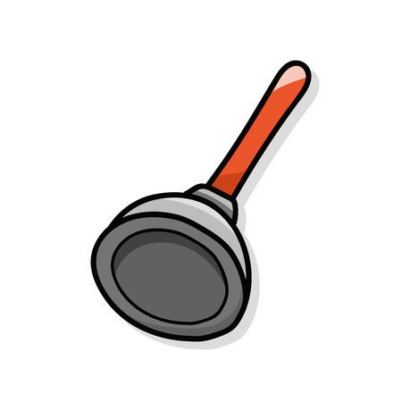 plunger: plunger doodle Illustration
