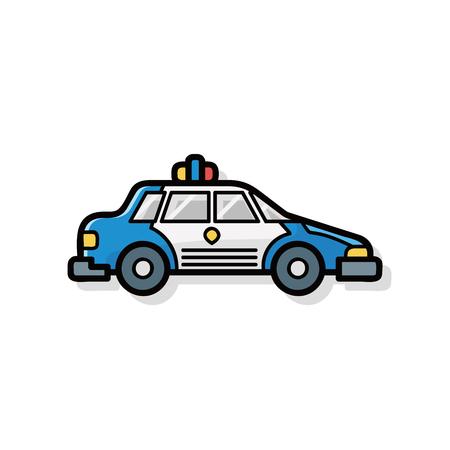 Polizeiauto doodle