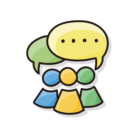 message doodle  イラスト・ベクター素材
