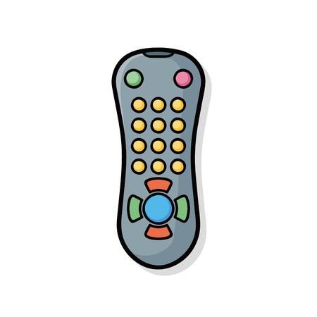 tv controle doodle Banco de Imagens - 45405855