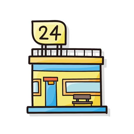 store: market store doodle
