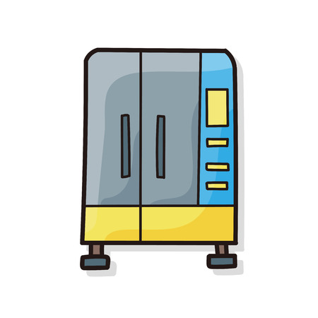 refrigerator: refrigerator doodle Illustration