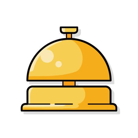 services: hotel bell doodle Illustration