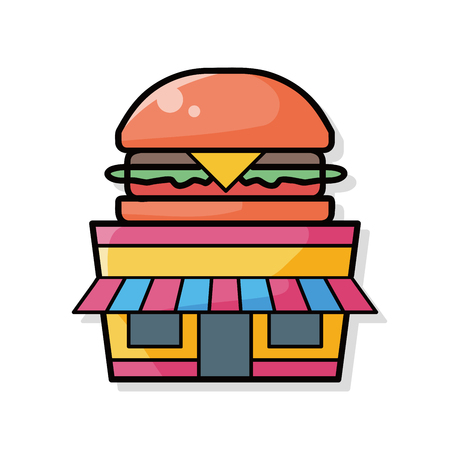 hamburger: hamburger store doodle