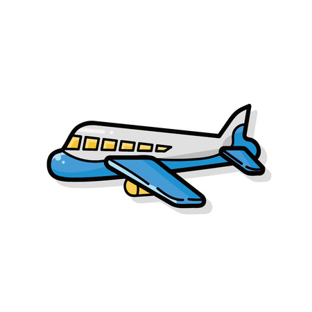 airplane doodle Vectores