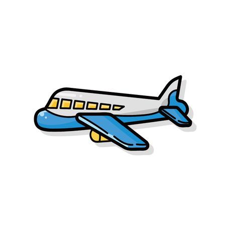 airplane doodle Illustration