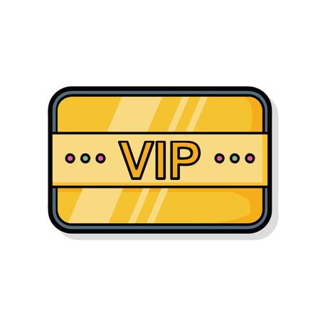 neckband: vip card doodle Illustration