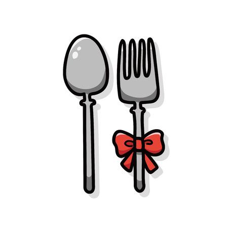 tableware: tableware doodle Illustration