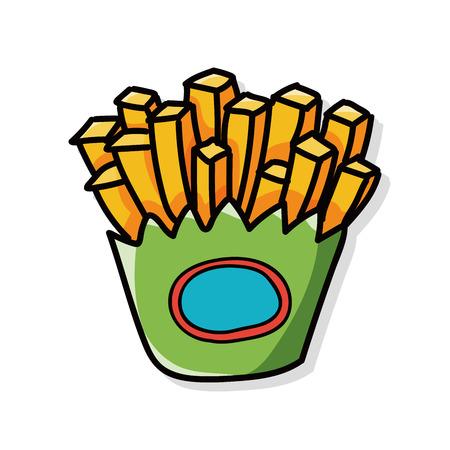 comida chatarra: papas fritas garabato