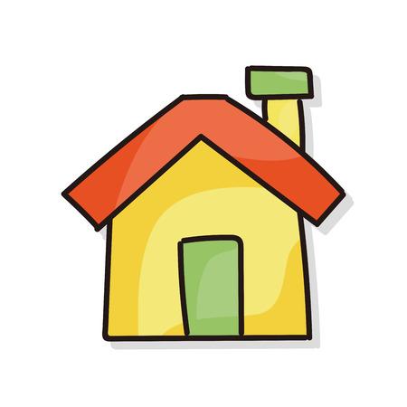 escuela edificio: edificio del doodle Vectores