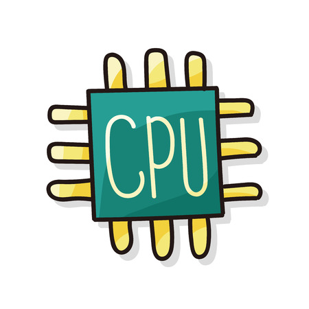 ic: cpu doodle Illustration