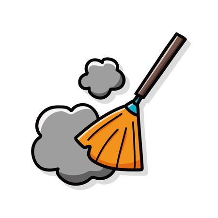broom doodle  イラスト・ベクター素材