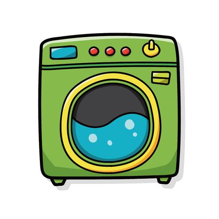 washing machine doodle  イラスト・ベクター素材