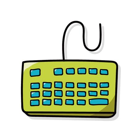 computer keyboard: Computer keyboard doodle