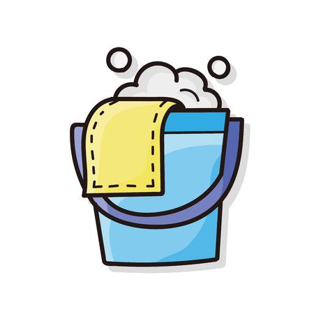 bucket water: water bucket doodle