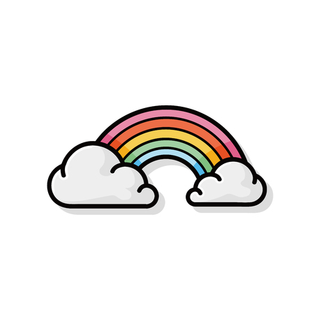 doodle: rainbow doodle Illustration