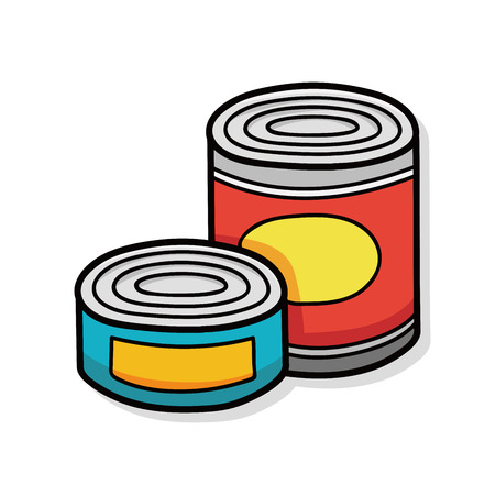 can: Canned food doodle