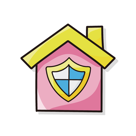 armored safes: house security doodle