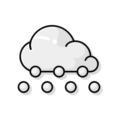 estado del tiempo: doodle de la nube del tiempo