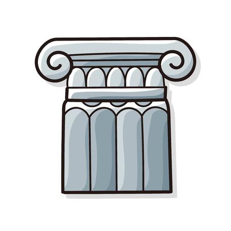 roman column: Architecture doodle
