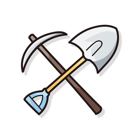 shovel: Shovel doodle Illustration