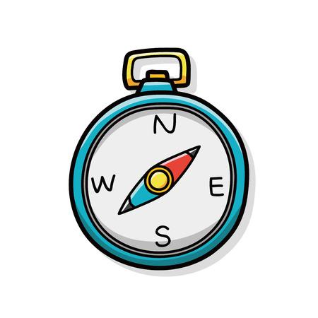 Compasses doodle  イラスト・ベクター素材