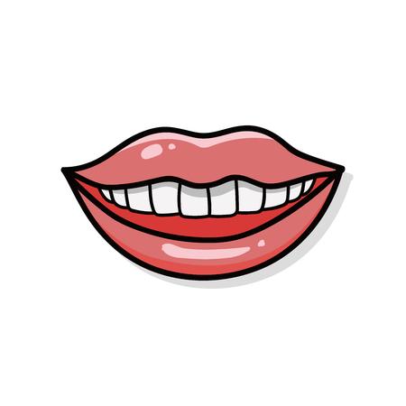 doodle: lips doodle Illustration