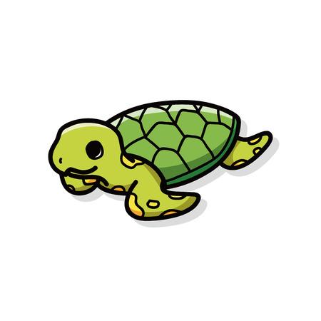 sea animal: sea animal turtle doodle